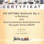 certyfikat iscar
