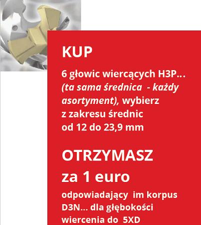 głowice wiercące H3P
